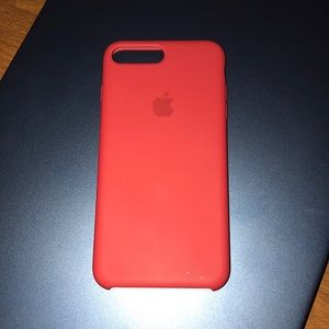 Apple red silicone case for iPhone 7/8 plus